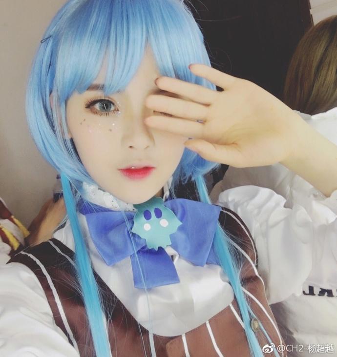 蓝头发蓝色精灵杨超越美图早期图片【2017-4-1】