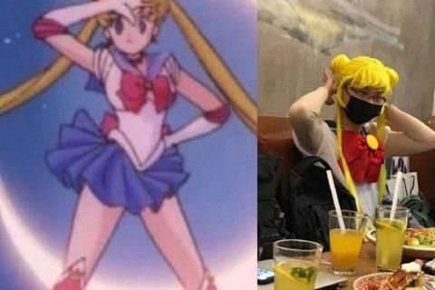 杨超越男粉牛批了,cosplay露娜和水兵月财神爷,真的拼!