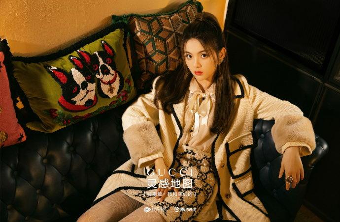 《GUCCI灵感地图》#杨超越白色公主风套装#
