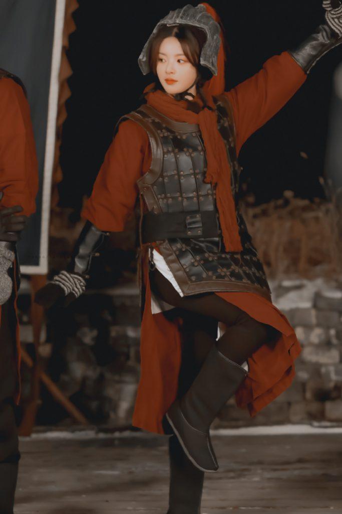 杨超越在《了不起的长城》中小兵造型图片