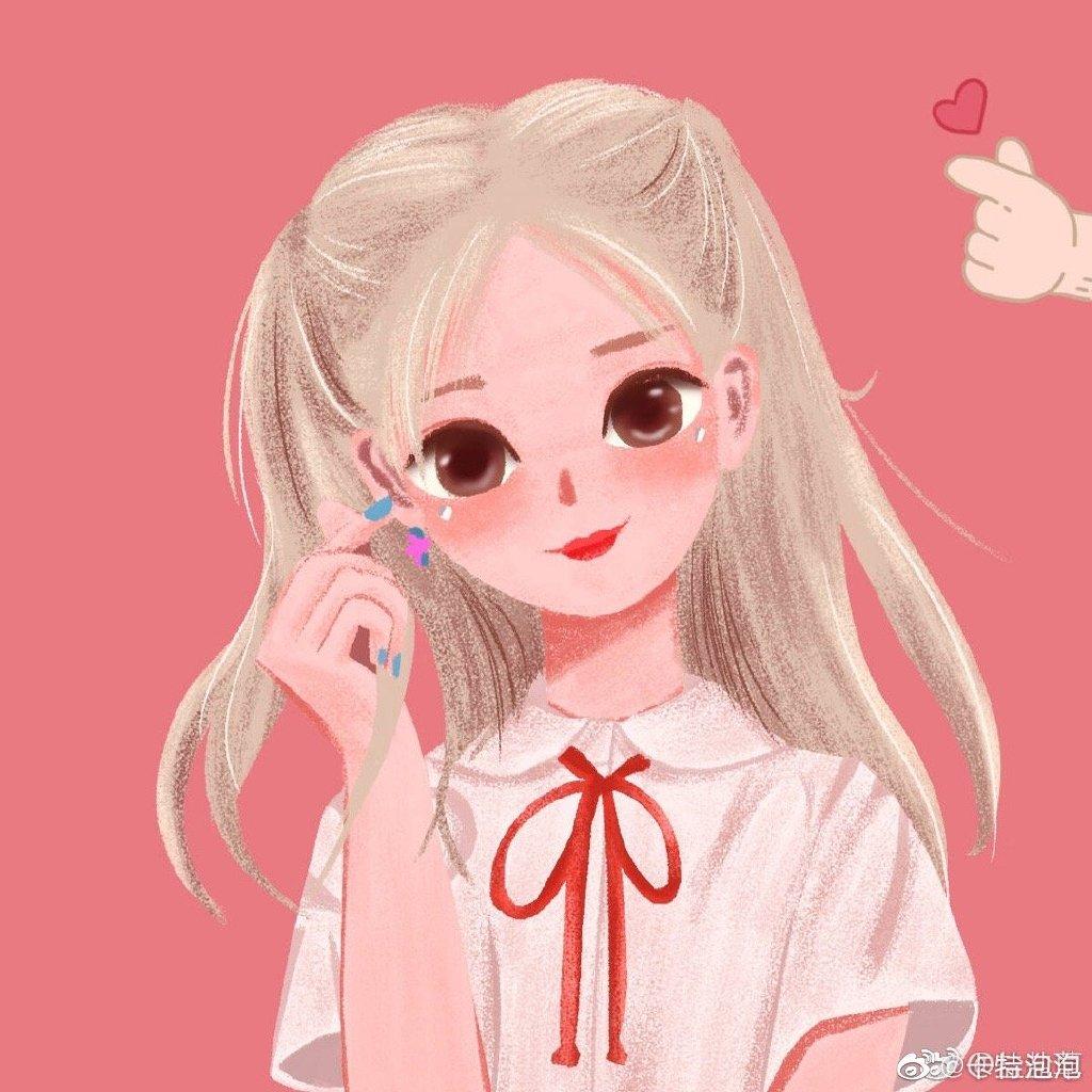 一组杨超越粉丝手绘的卡通杨超越头像