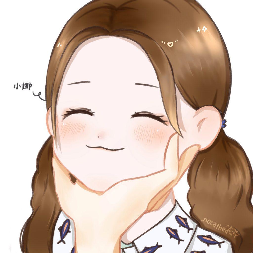 杨超越粉丝画的超可爱卡通洛天然小娜董若萱昊天角色头像