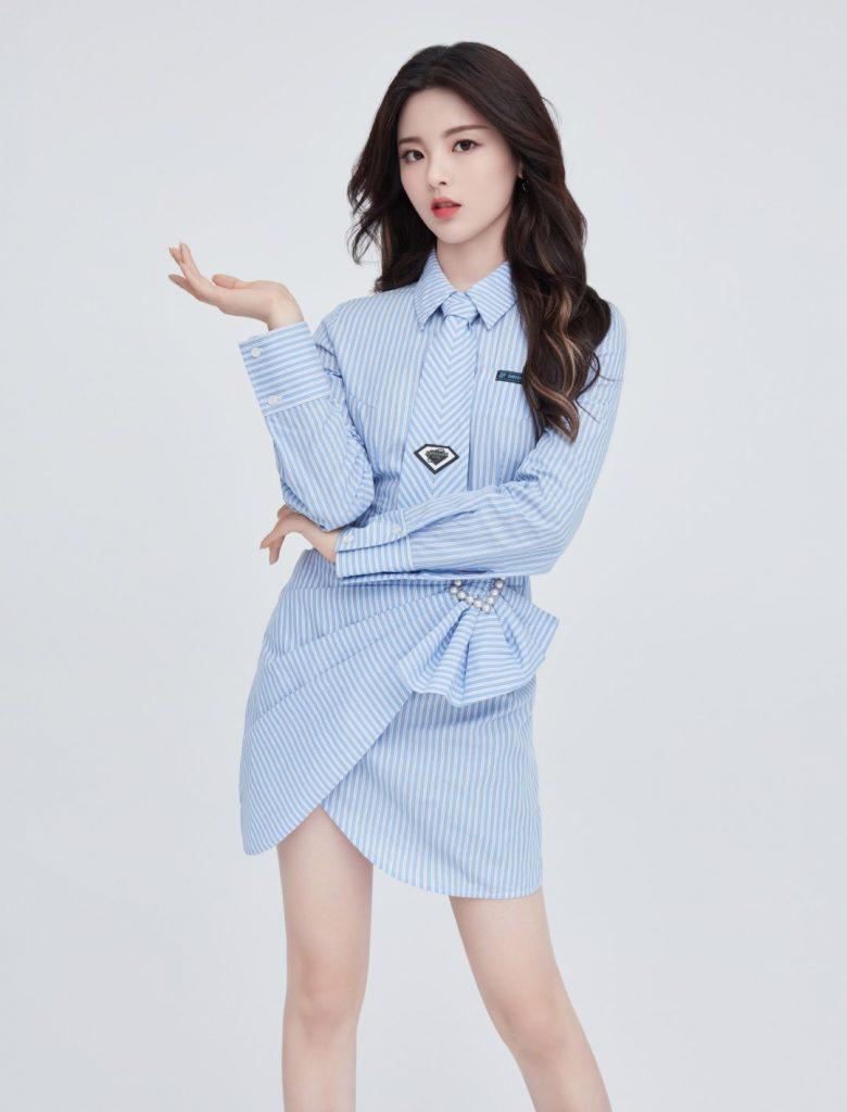 蓝色知性美的杨超越【6P】